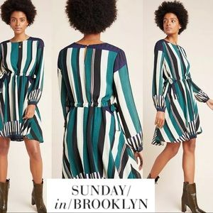 Sunday In Brooklyn Leger Dress SZ L | ANTHRO